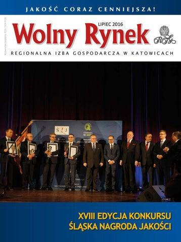 """760a9206f3aa69 Wolny Rynek"""" lipiec 2016 by Regionalna Izba Gospodarcza w Katowicach ..."""