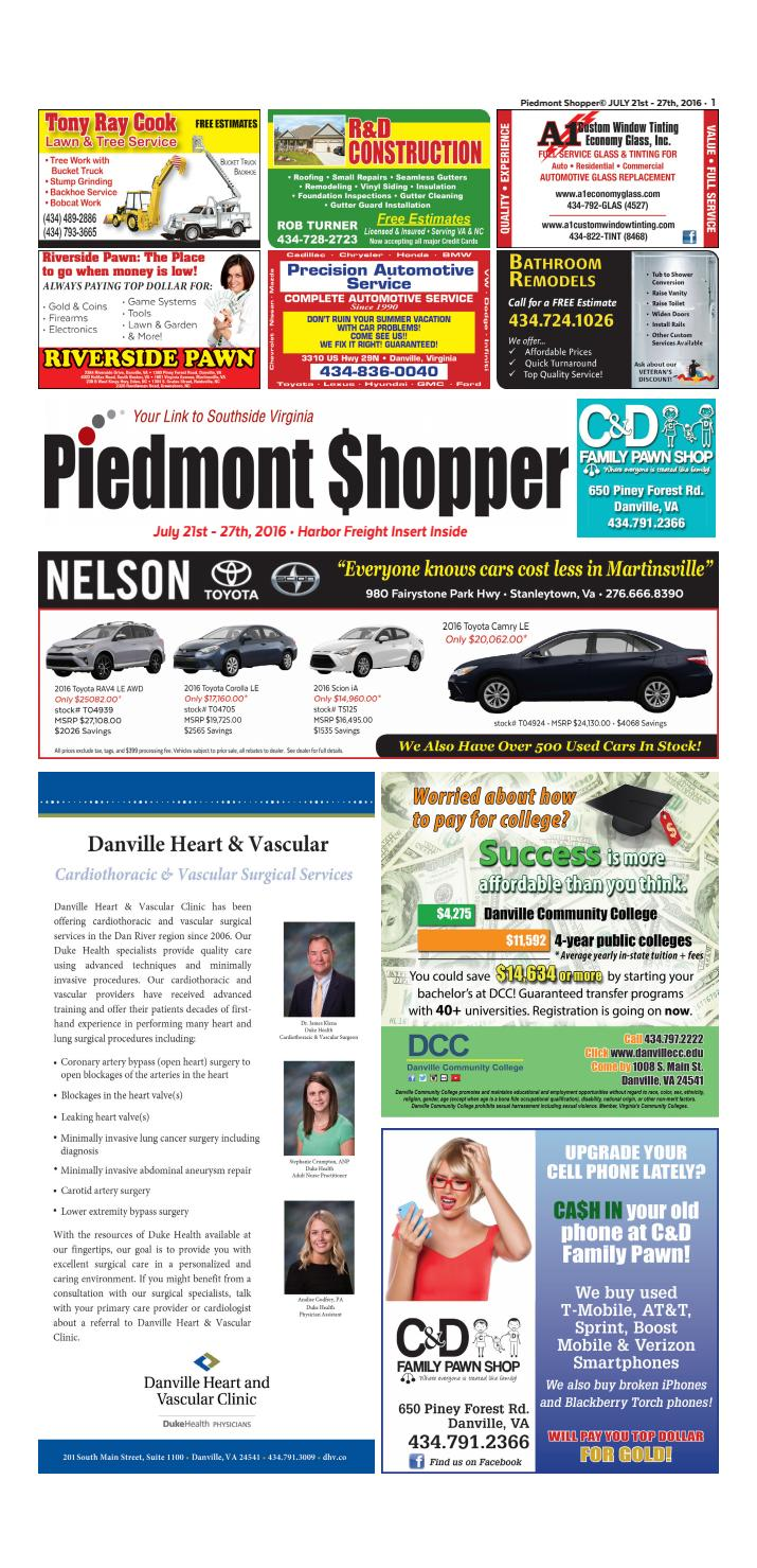 3ebd5223eb Piedmont Shopper July 21-27, 2016 by piedmont shopper - issuu