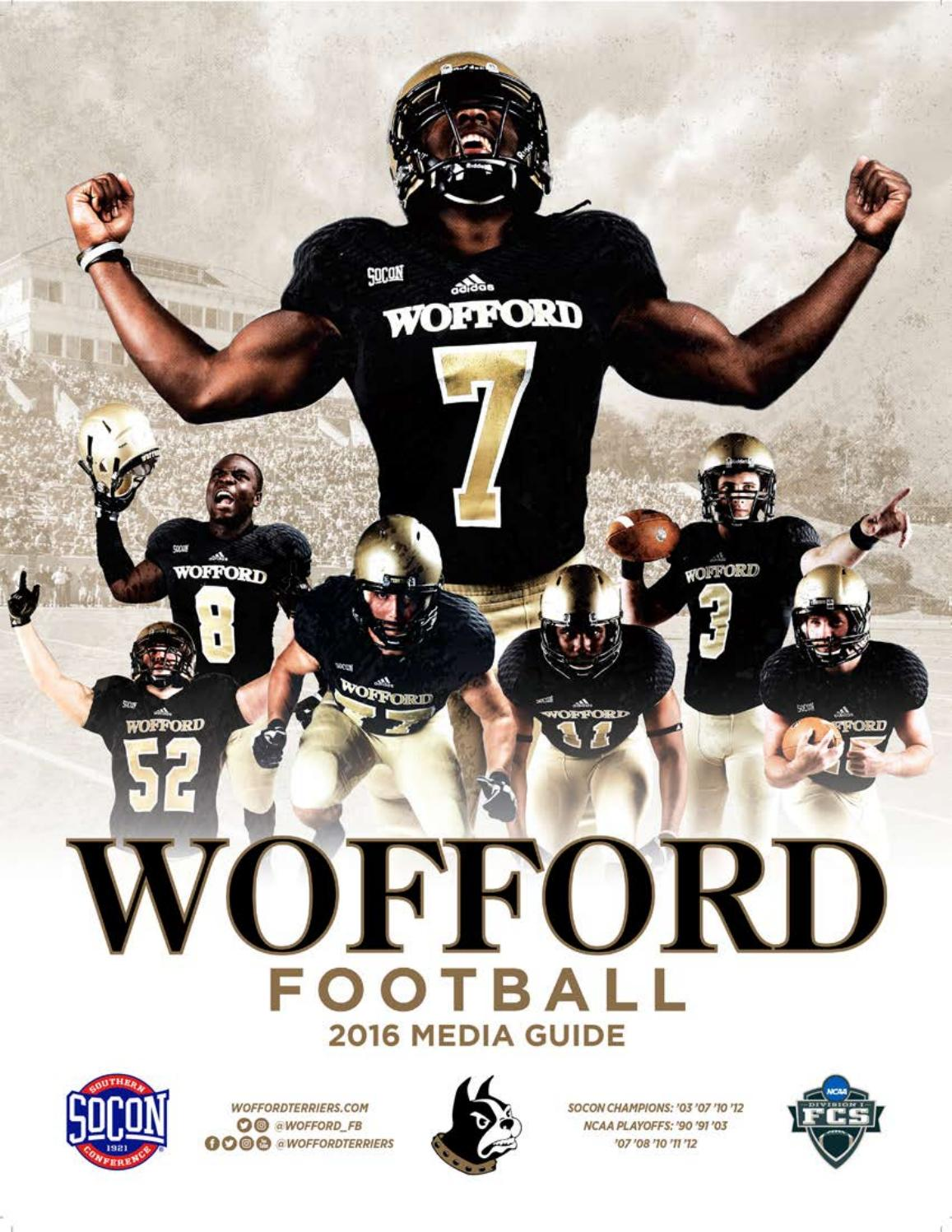 ceea4b3c9 2016 Wofford Football Media Guide by Wofford Athletics - issuu