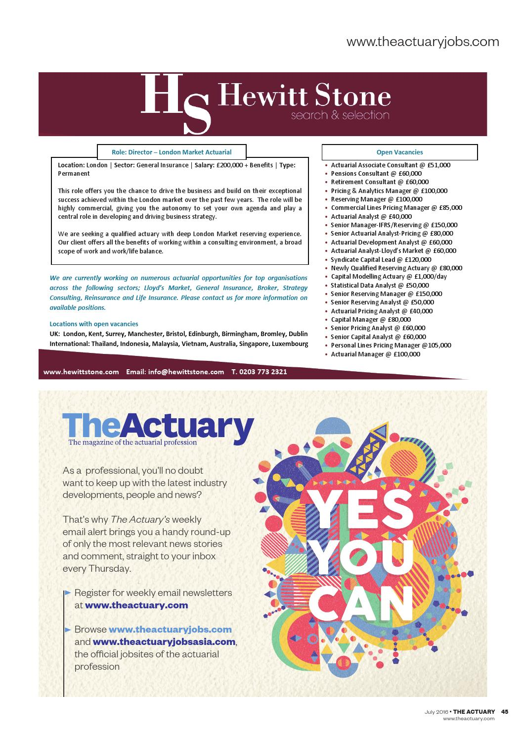 The Actuary July 2016