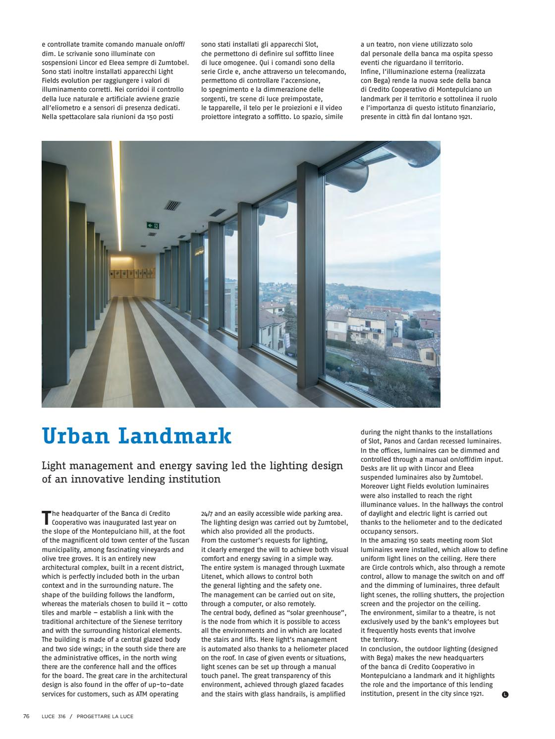 Bcc Montepulciano Nuova Sede luce 316 by luce - issuu