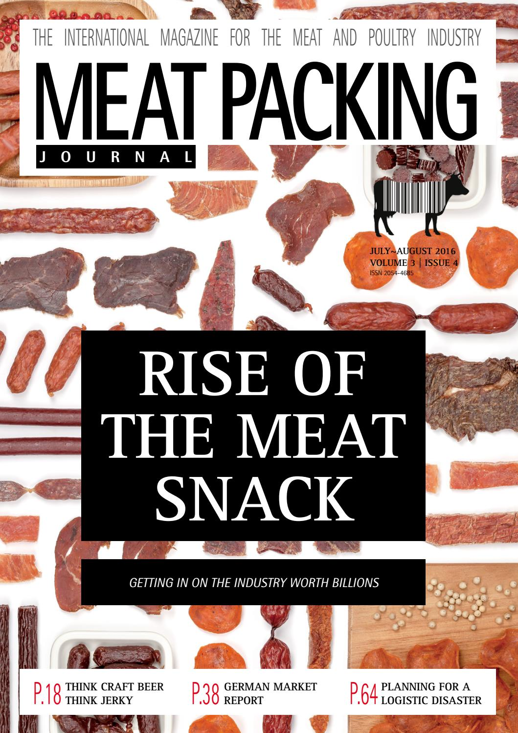 Meat Packing Journal Jul Aug 2016 Vol 3 Iss 4 By Reby