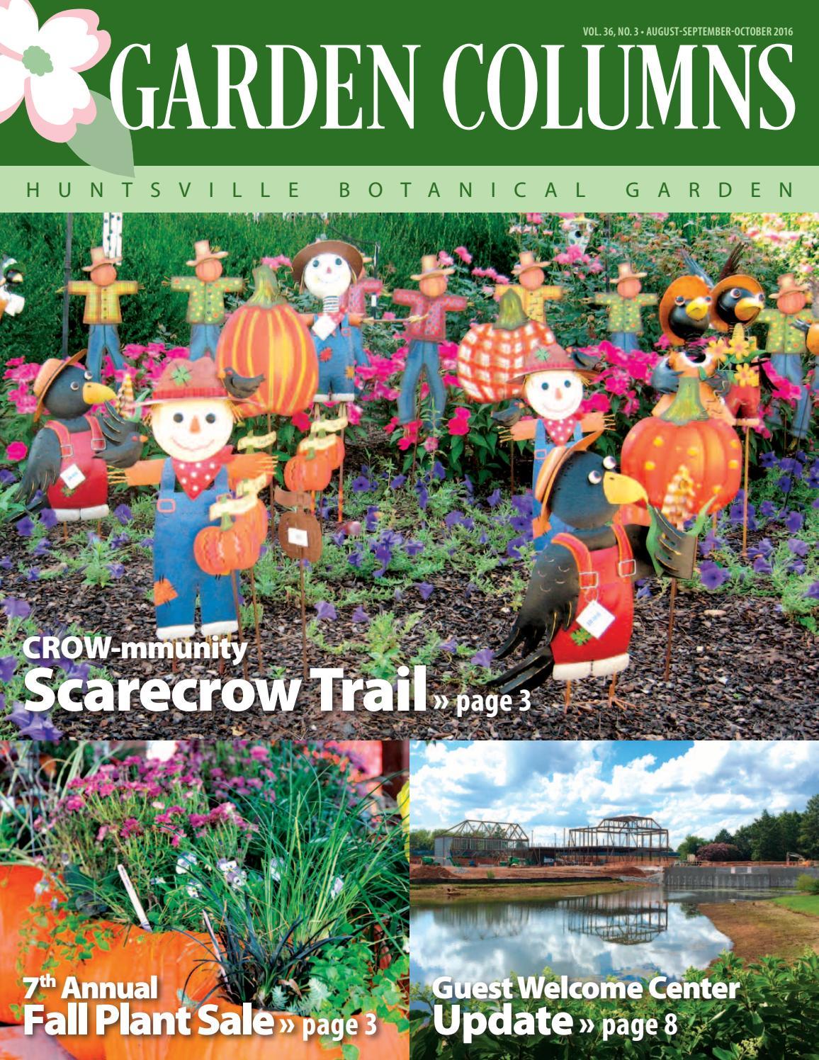 Aug Sept Oct16 Newsletter By Huntsville Botanical Garden Issuu