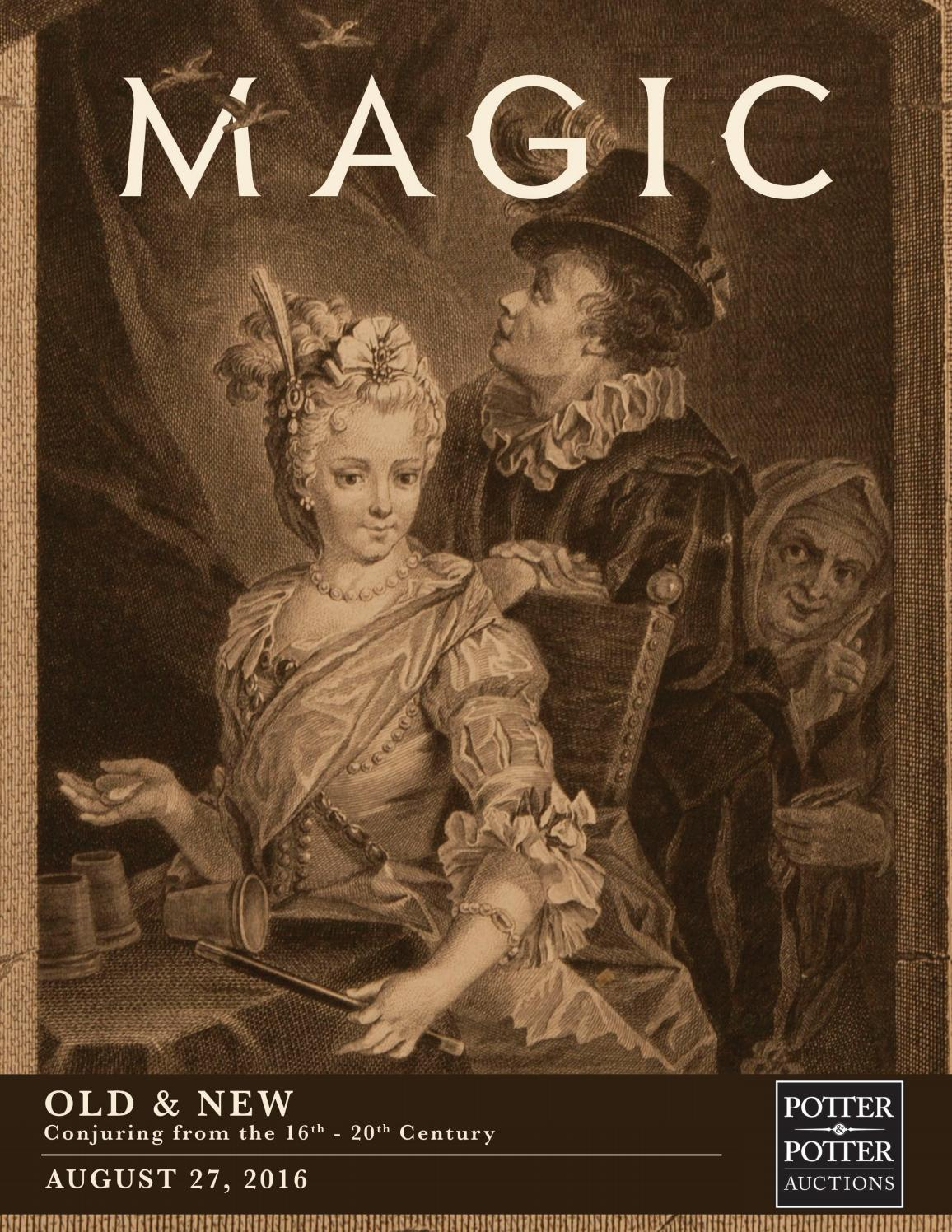 Magic • Old & New • Conjuring from the 16th-18th Century by PotterAuctions  - issuu