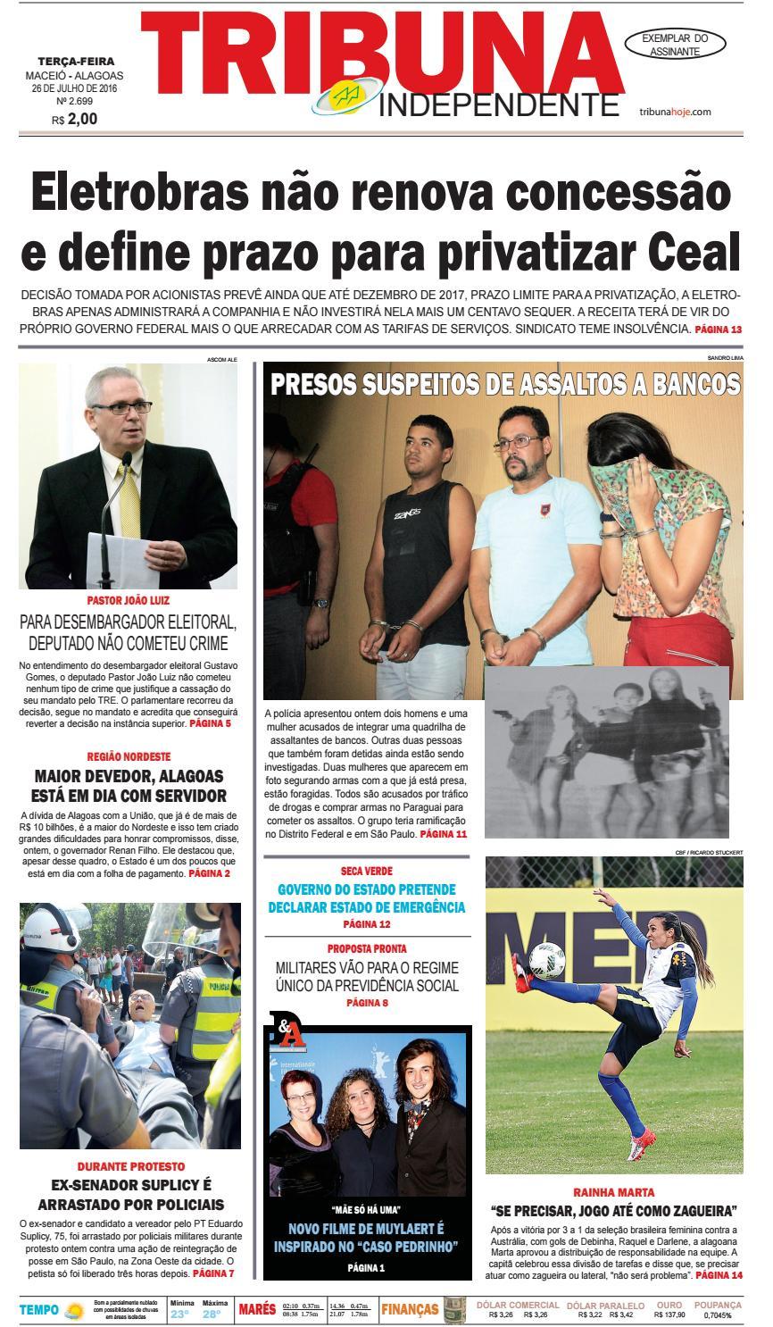 798ba7b0c9a32 Edição número 2699 - 26 de julho de 2016 by Tribuna Hoje - issuu