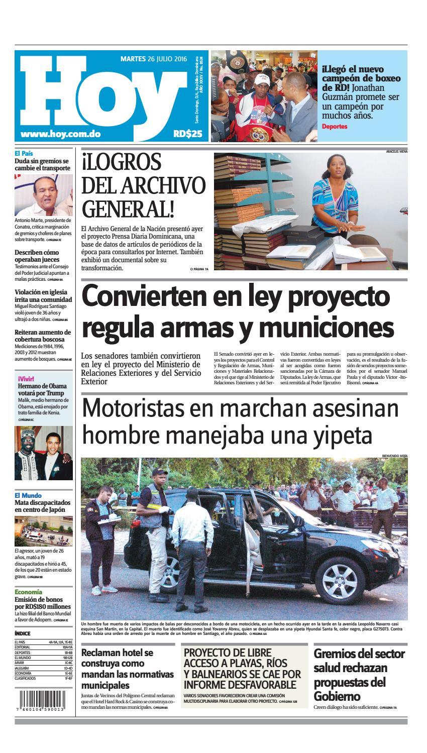Edición impresa hoy (martes 26 de julio 0538948f34b7