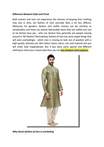 Difference Between Style And Trend By Parivarceremony Issuu