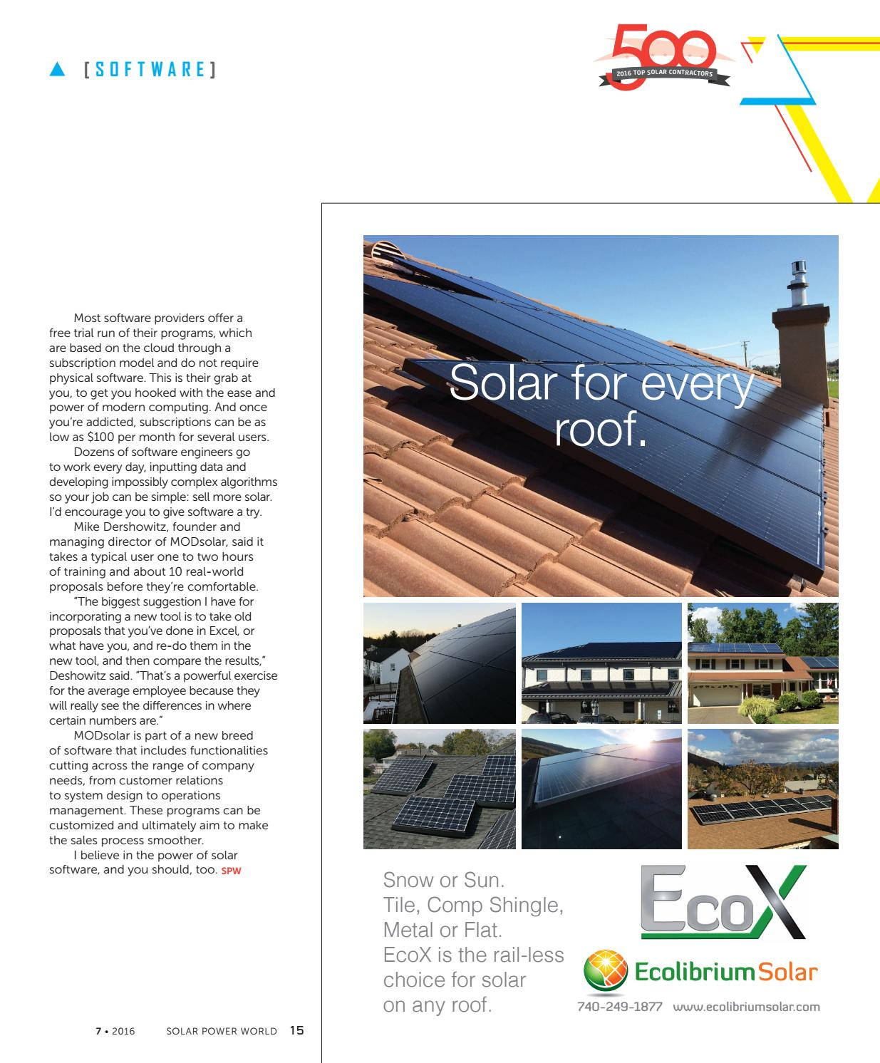 Solar Power World - JULY 2016 by WTWH Media LLC - issuu