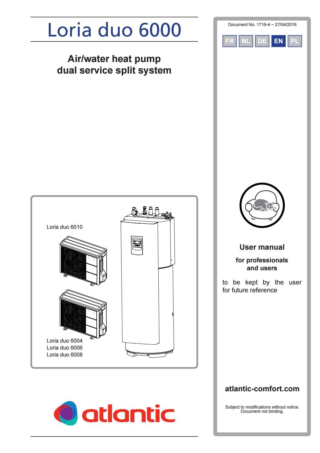 Ръководство за експлоатация на термопомпи Loria Duo by ...