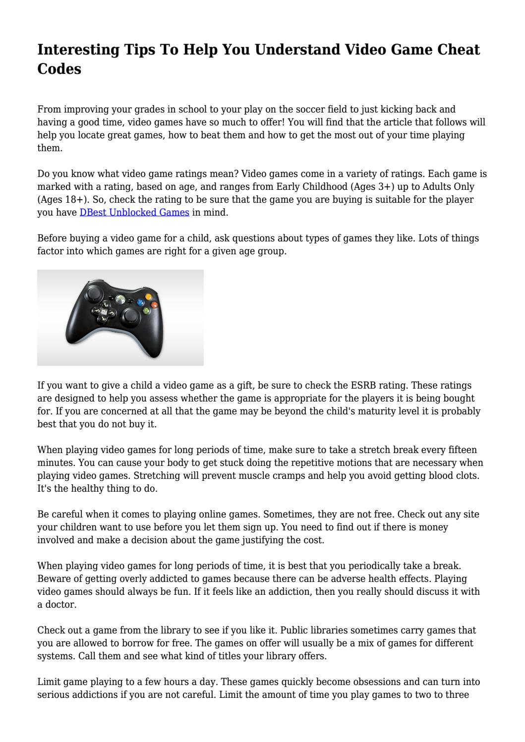 Interesting Tips To Help You Understand Video Game Cheat