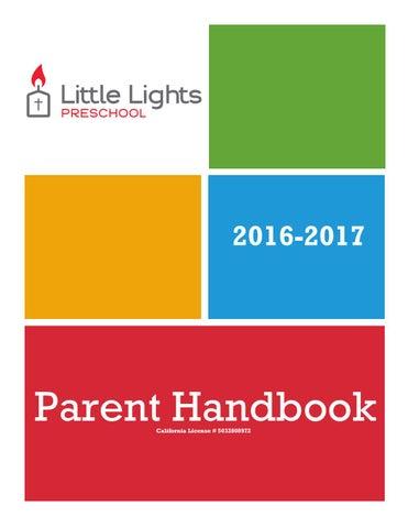 Little Lights Preschool Handbook By Ali Cox And Company Marketing ...