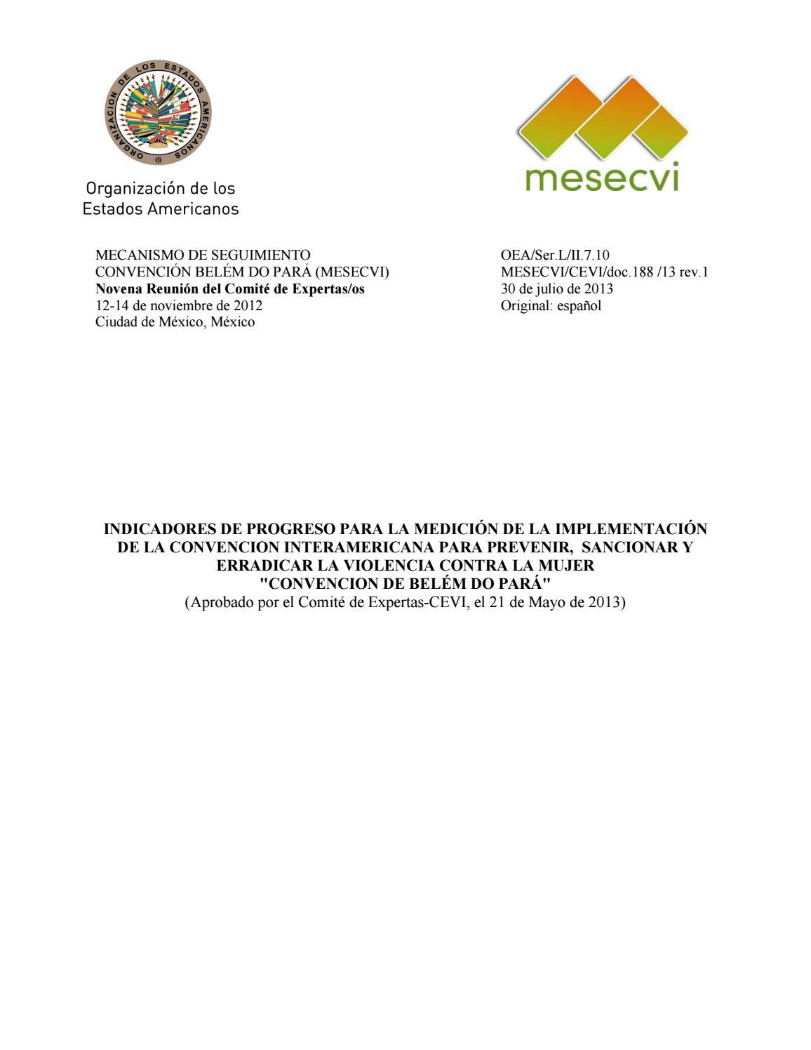 Mecanismo de seguimiento Convención Belém Do Pará (MESECVI) by ...