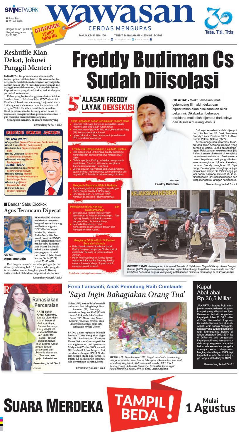 Wawasan 27 Juli 2016 By Koran Pagi Issuu Produk Ukm Bumn Mahkota Papua Bin Syowi