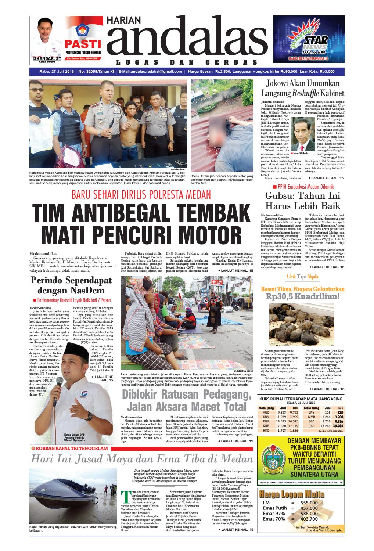Epaper andalas edisi rabu 27 juli 2016 by media andalas - issuu 7eb8803311