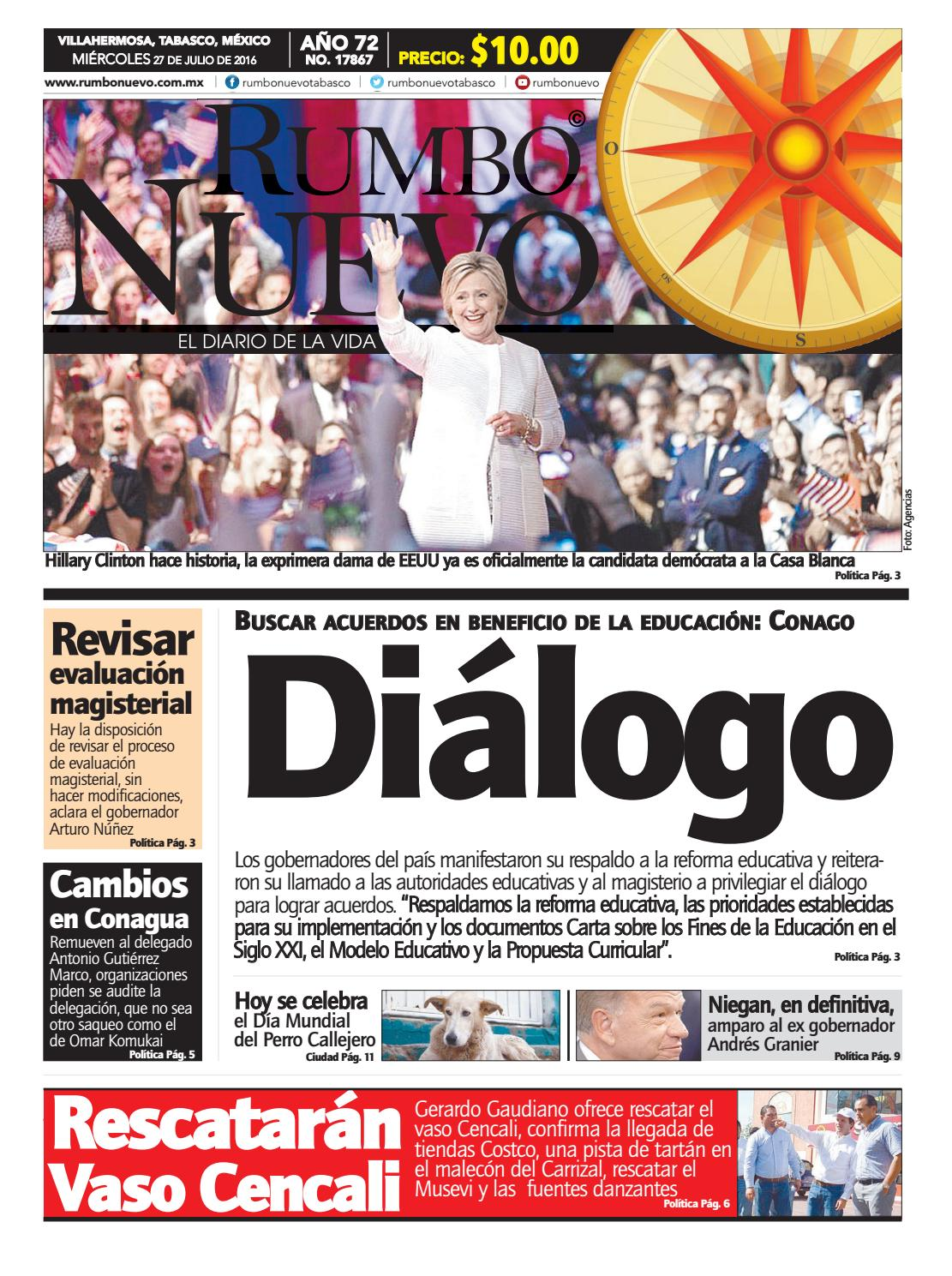 Rumbo Nuevo. Miércoles 27 de julio de 2016 by Grupo Rumbo Nuevo - issuu