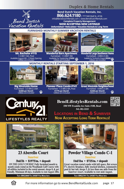 Bend Rental Guide Volume 6 Issue 8 by 541 Media LLC - issuu