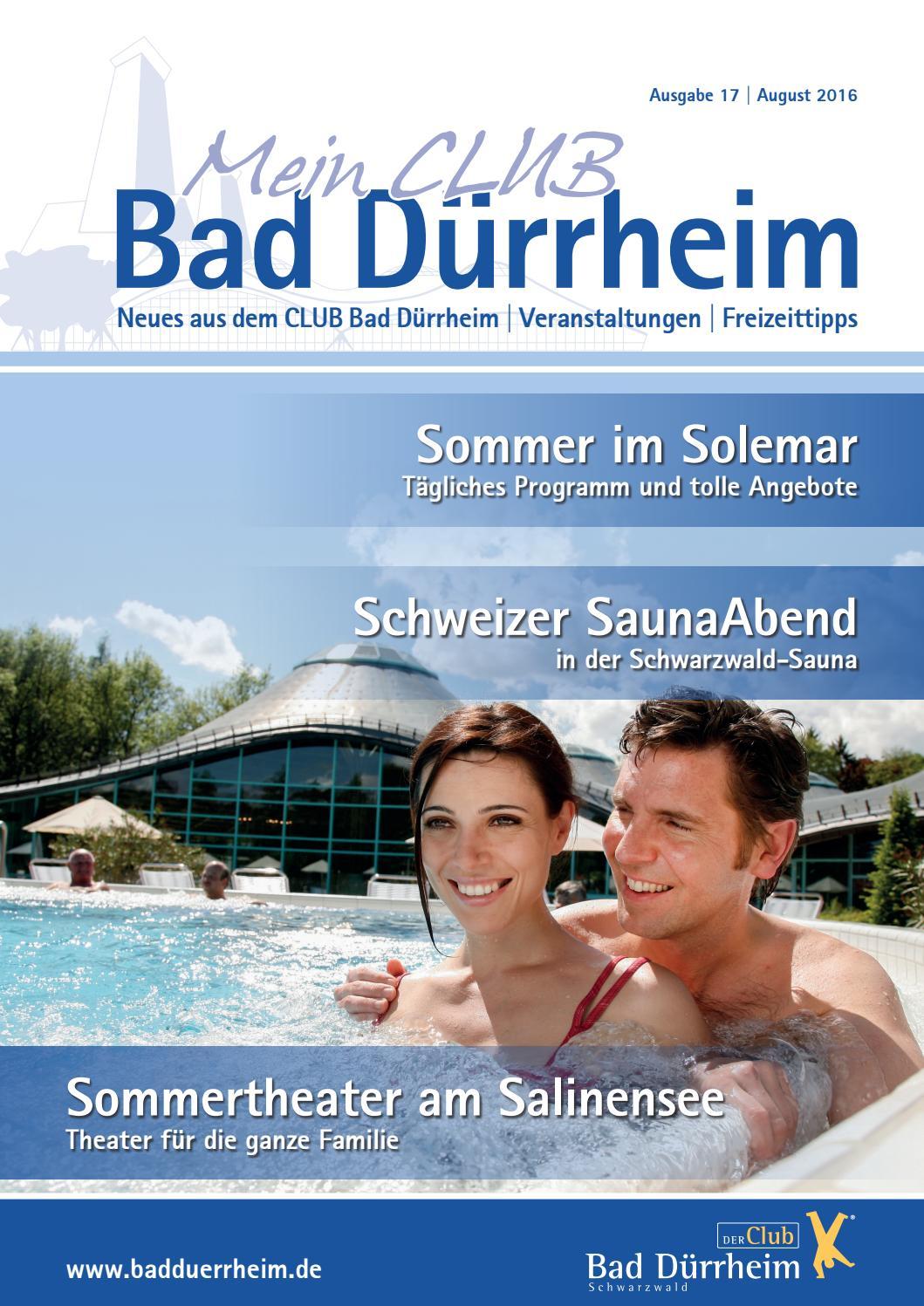 """magazin """"mein club bad dürrheim"""" august 2016kur- und bäder gmbh"""