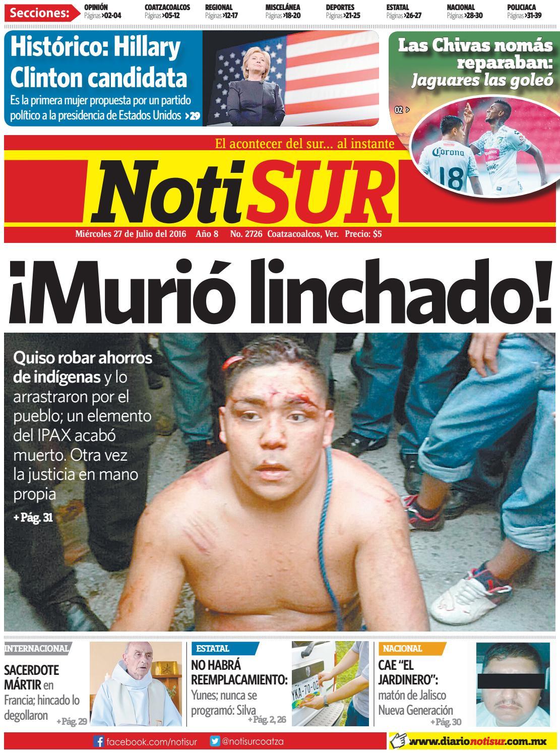 Notisur 27 de julio 2016 by diario notisur coatzacoalcos - Precio hora jardinero ...