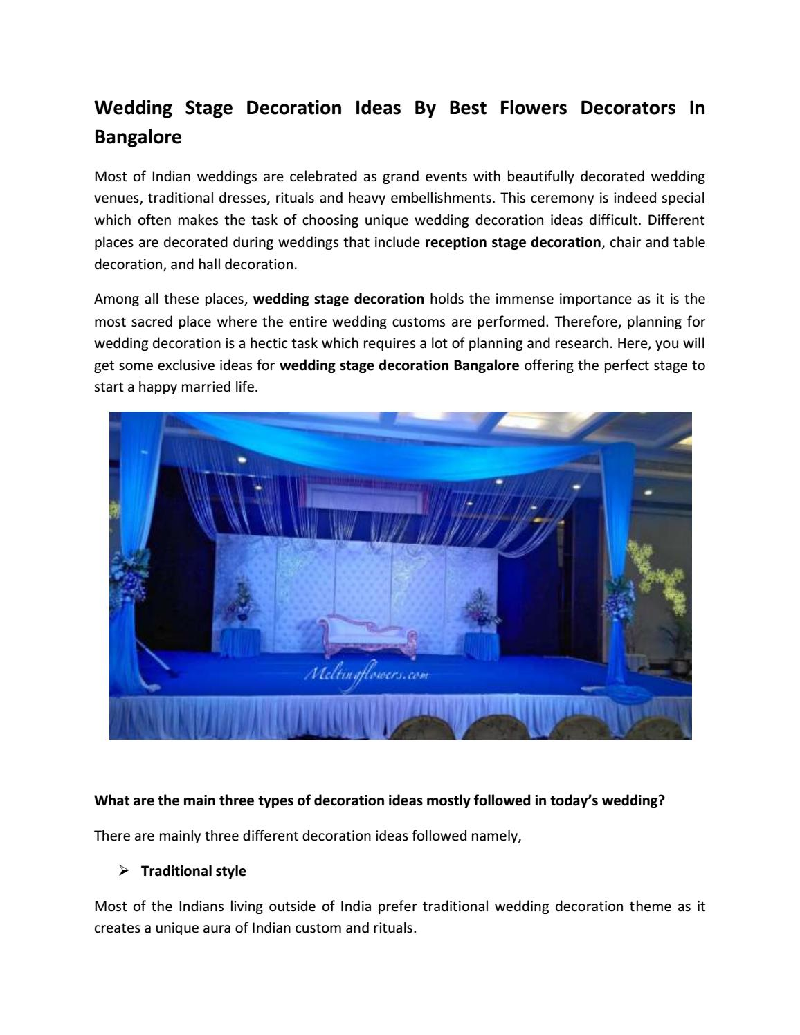 Wedding Stage Decoration Ideas By Best Flowers Decorators In