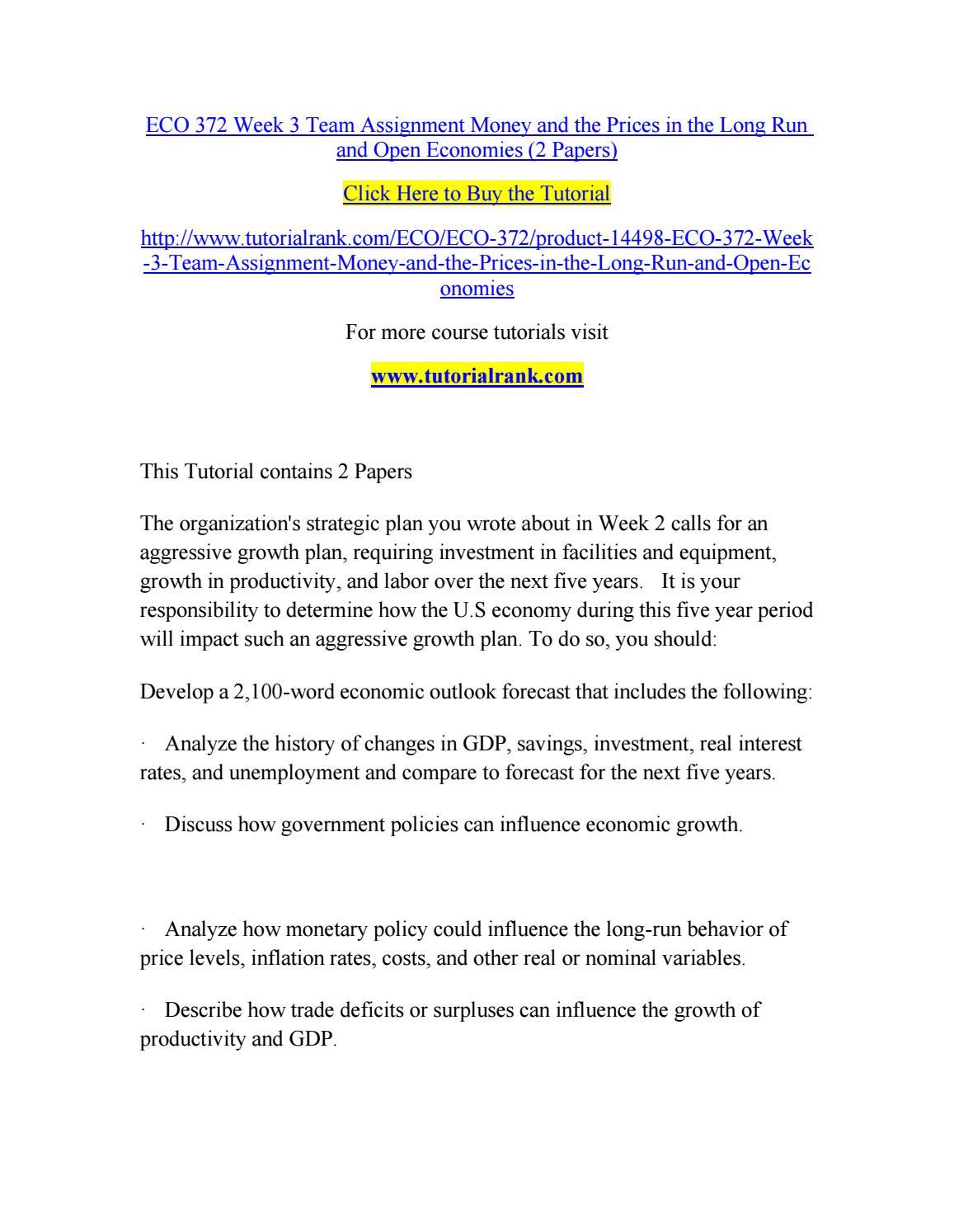 economic policies pdf