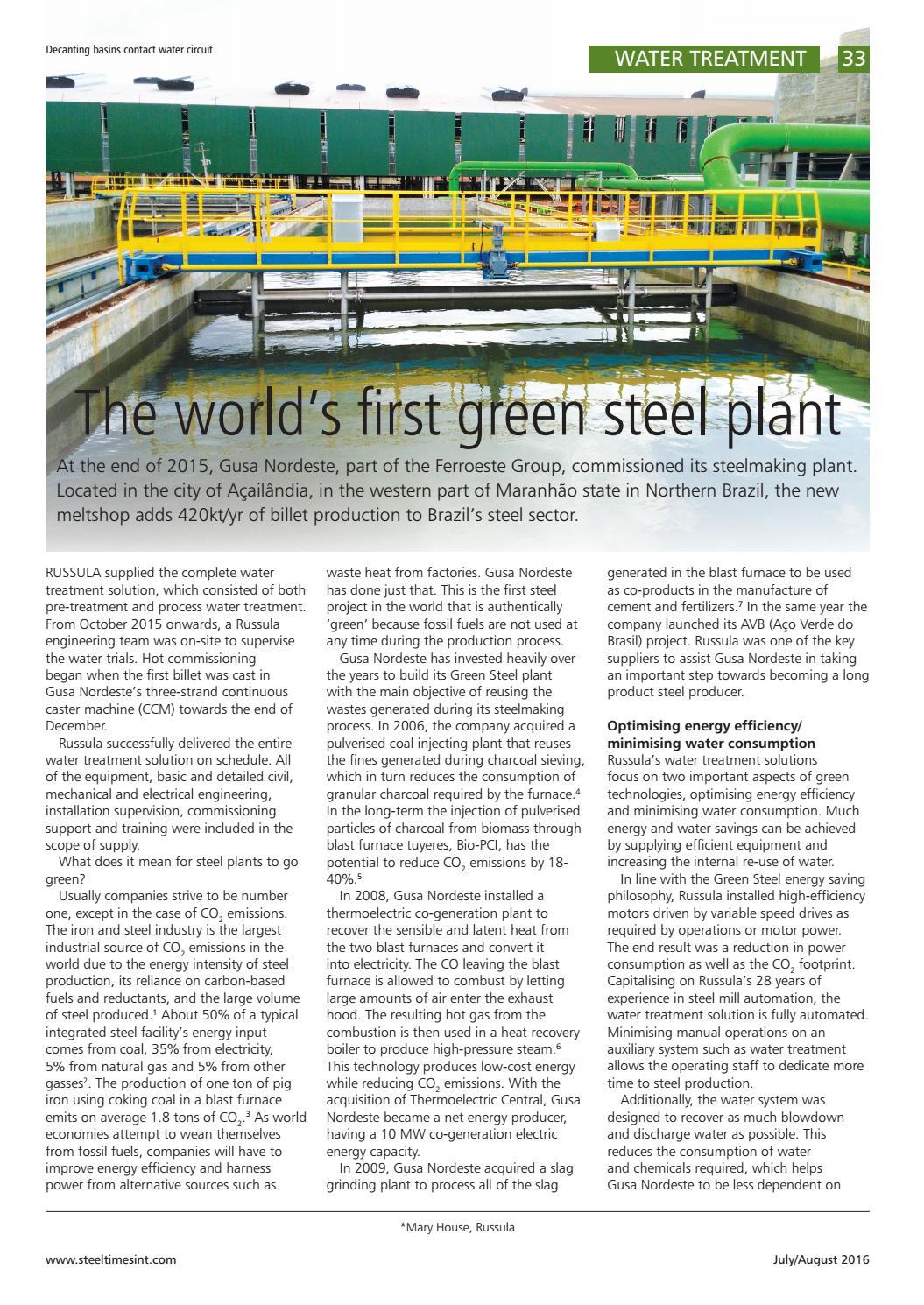 Steel Times International July August 2016 By Quartz Issuu