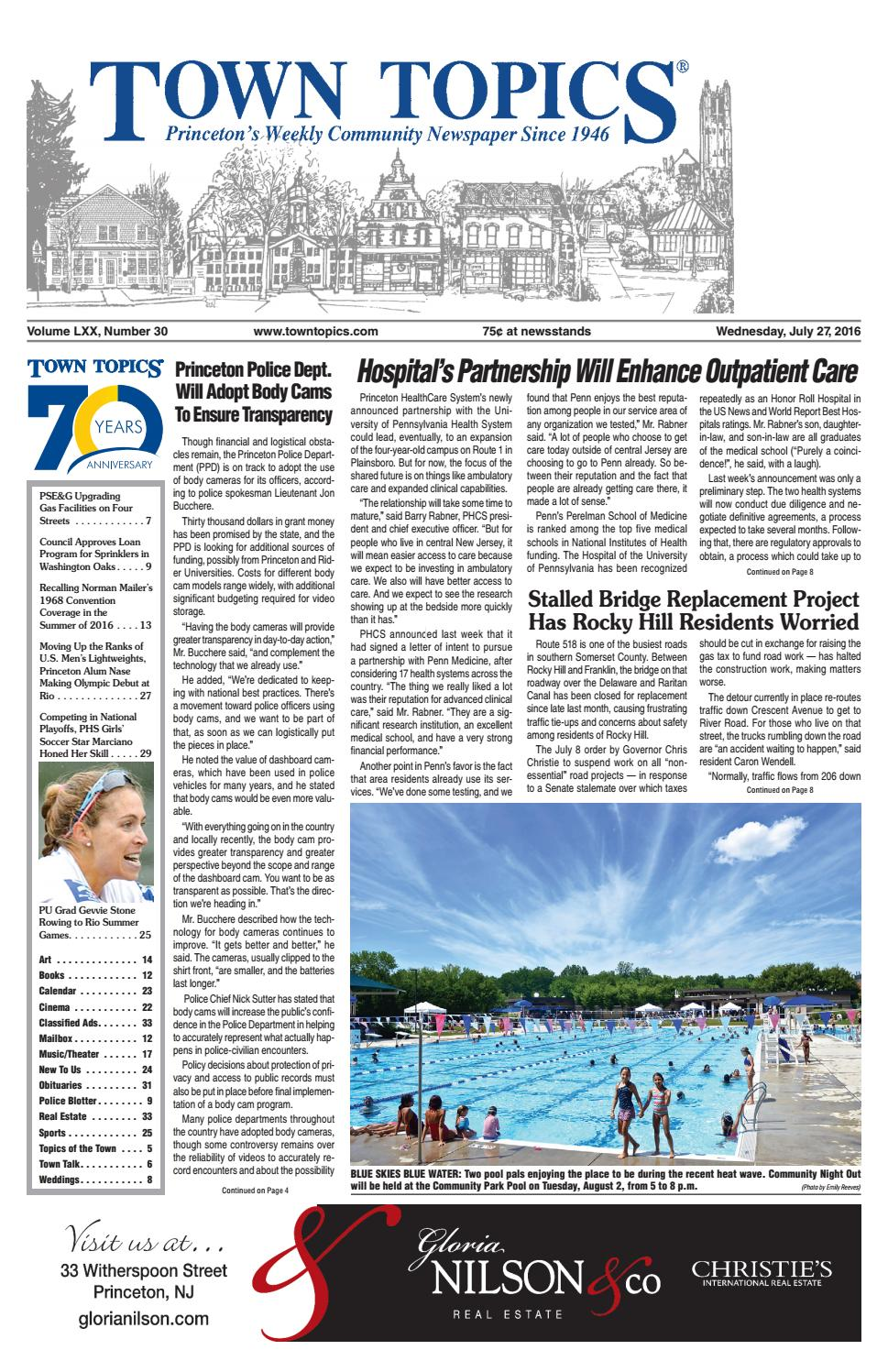 71bdadefb0 Town Topics Newspaper July 27