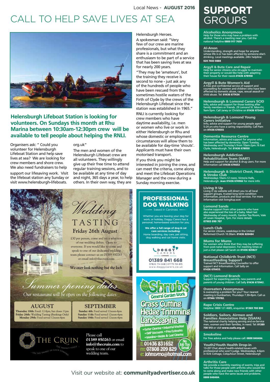 Helensburgh Community Magazine August 2016 by Community