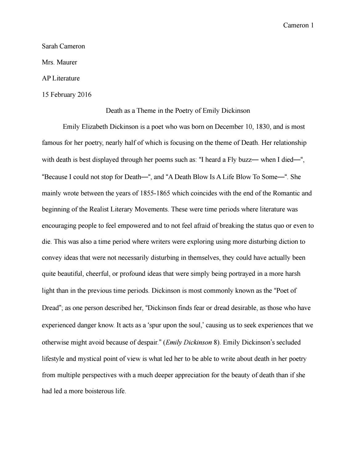 Emily dickinson free research paper literature review software tools