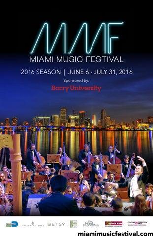 87da6c6129e0c Miami Music Festival 2016 Season Playbill by Miami Music Festival ...