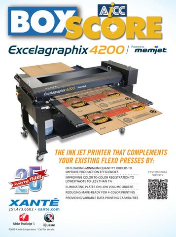61cd2694036 THE INK JET PRINTER THAT COMPLEMENTS YOUR EXISTING FLEXO PRESSES BY   OFFLOADING MINIMUM QUANTITY ORDERS TO IMPROVE PRODUCTION EFFICIENCIES  IMPROVING COLOR ...