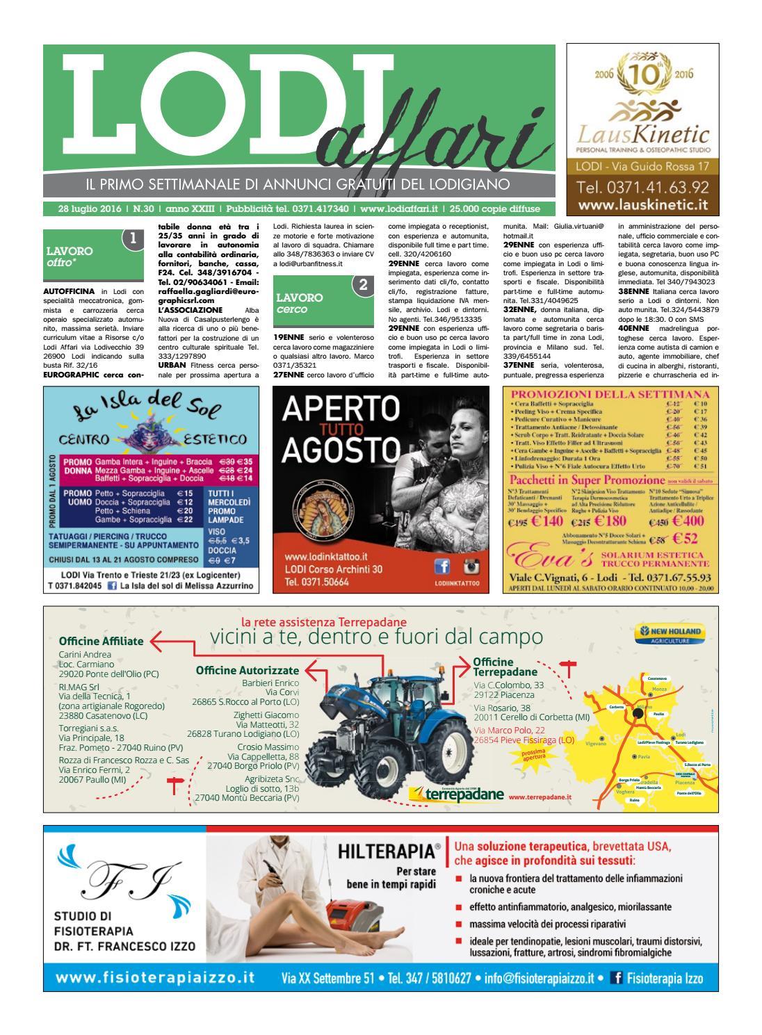 0d7b5f8b5d Lodi Affari 28 Luglio by Lodi Affari - issuu