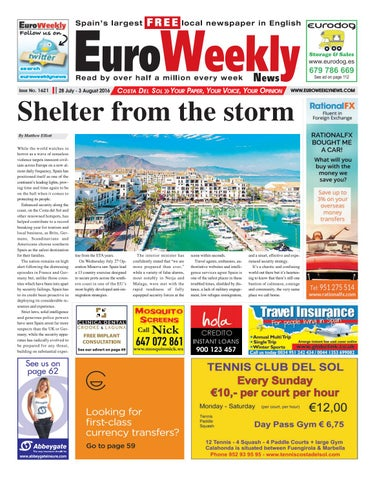 Euro Weekly News - Costa del Sol 2 - 8 July 2015 Issue 1565 by Euro Weekly  News Media S.A. - issuu