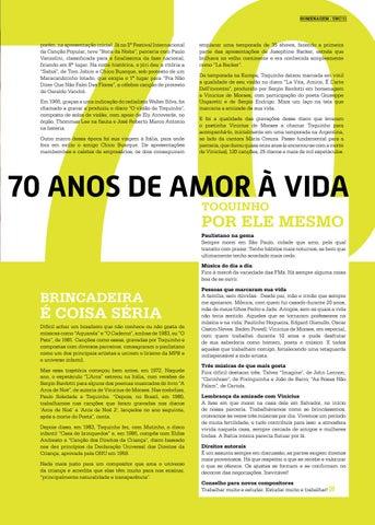 Page 11 of Toquinho, meio s\u00E9culo de m\u00FAsica, 70 anos de amor \u00E0 vida