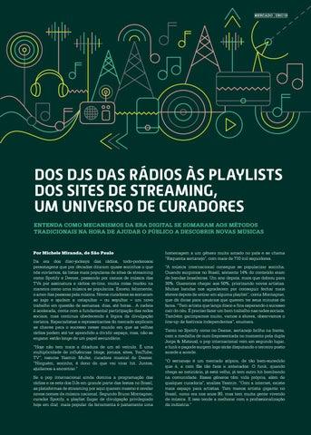 Page 19 of DOS DJS DAS R\u00C1DIOS \u00C0S PLAYLISTS DOS SITES DE STREAMING, UM UNIVERSO DE CURADORES