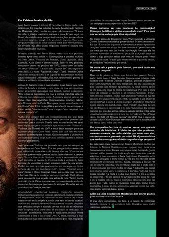 Page 5 of 'O QUE DEVO COMEMORAR, DE FATO, \u00C9 O DESEJO DE CONTINUAR FAZENDO M\u00DASICA'