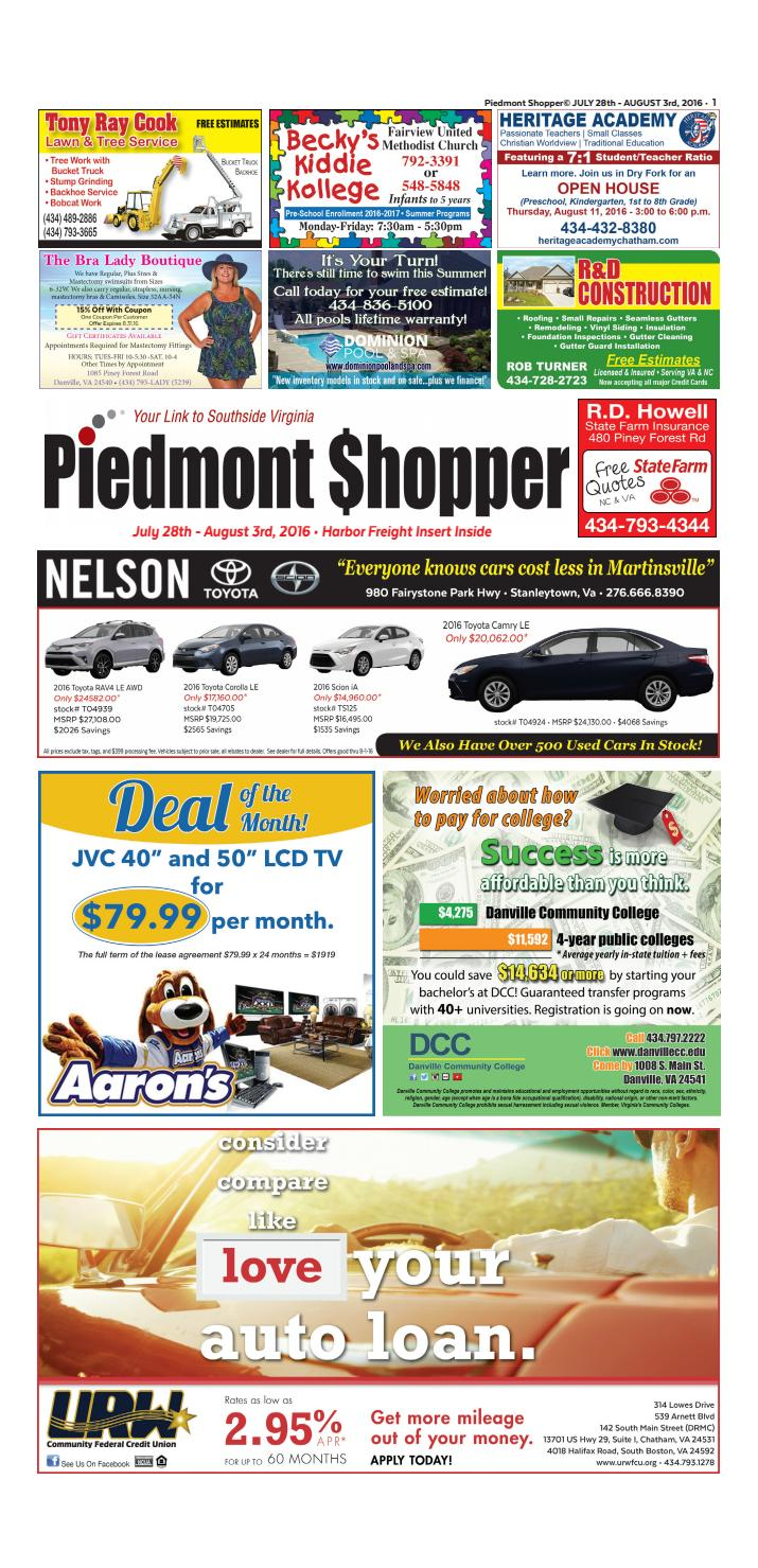 Piedmont Shopper July 28 - August 3, 2016 by piedmont
