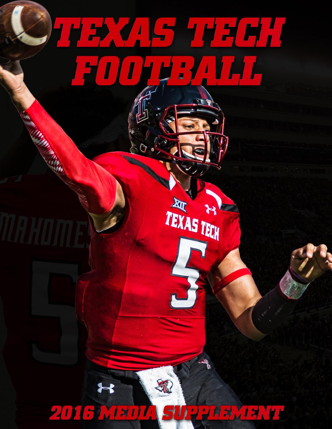 b5cfe33dcd1 2016 Texas Tech Football Media Supplement by Texas Tech Athletics - issuu