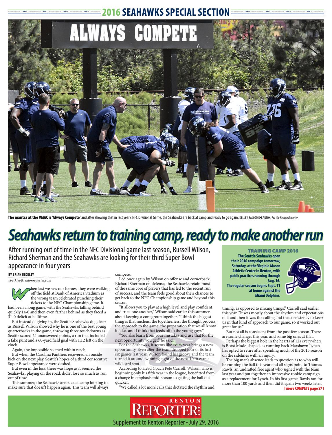 89d2087a030 Seahawks - 2016 Seahawks Training Camp by Sound Publishing - issuu