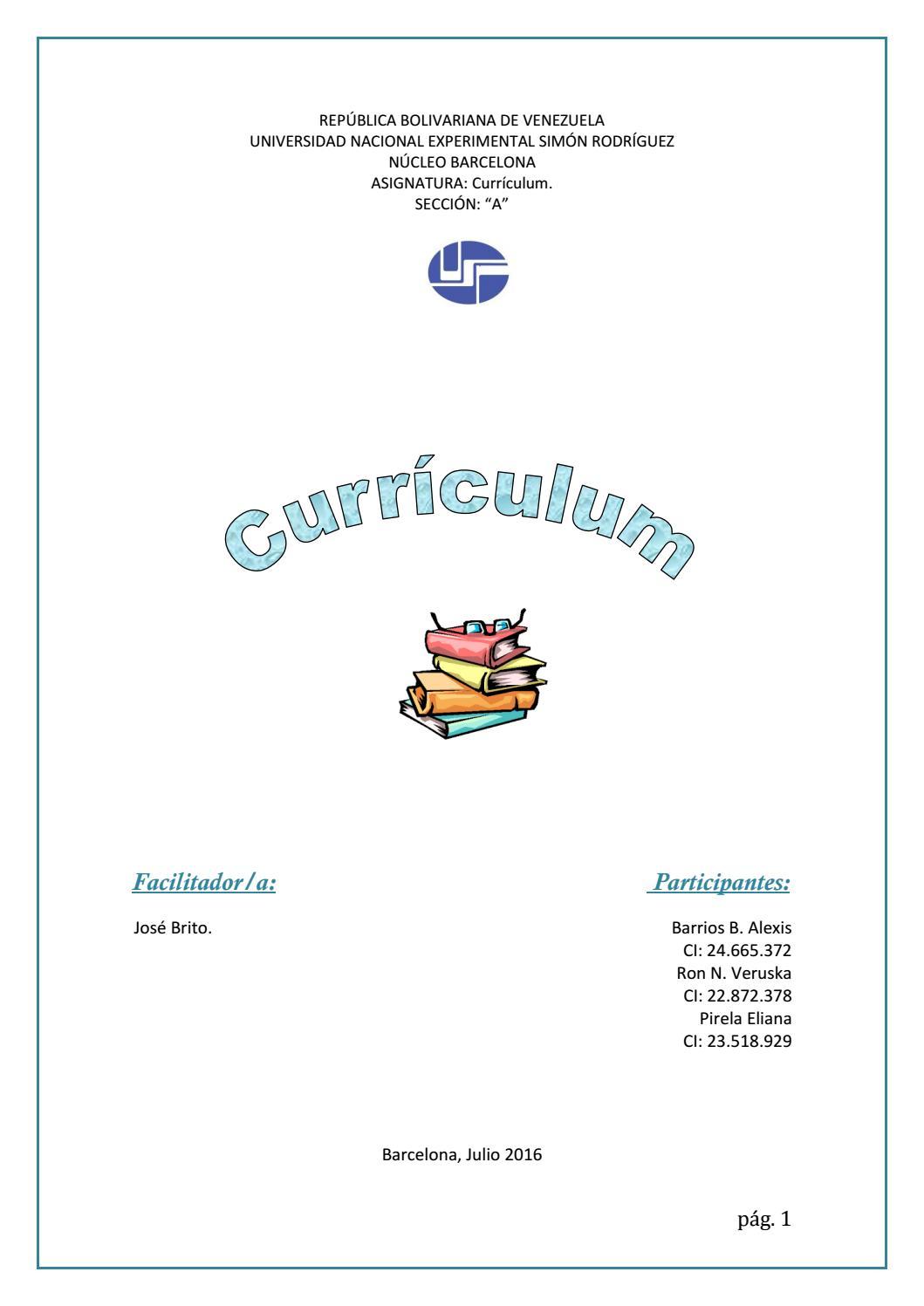 Evolución del termino Curriculum según el punto de vista de diversos ...