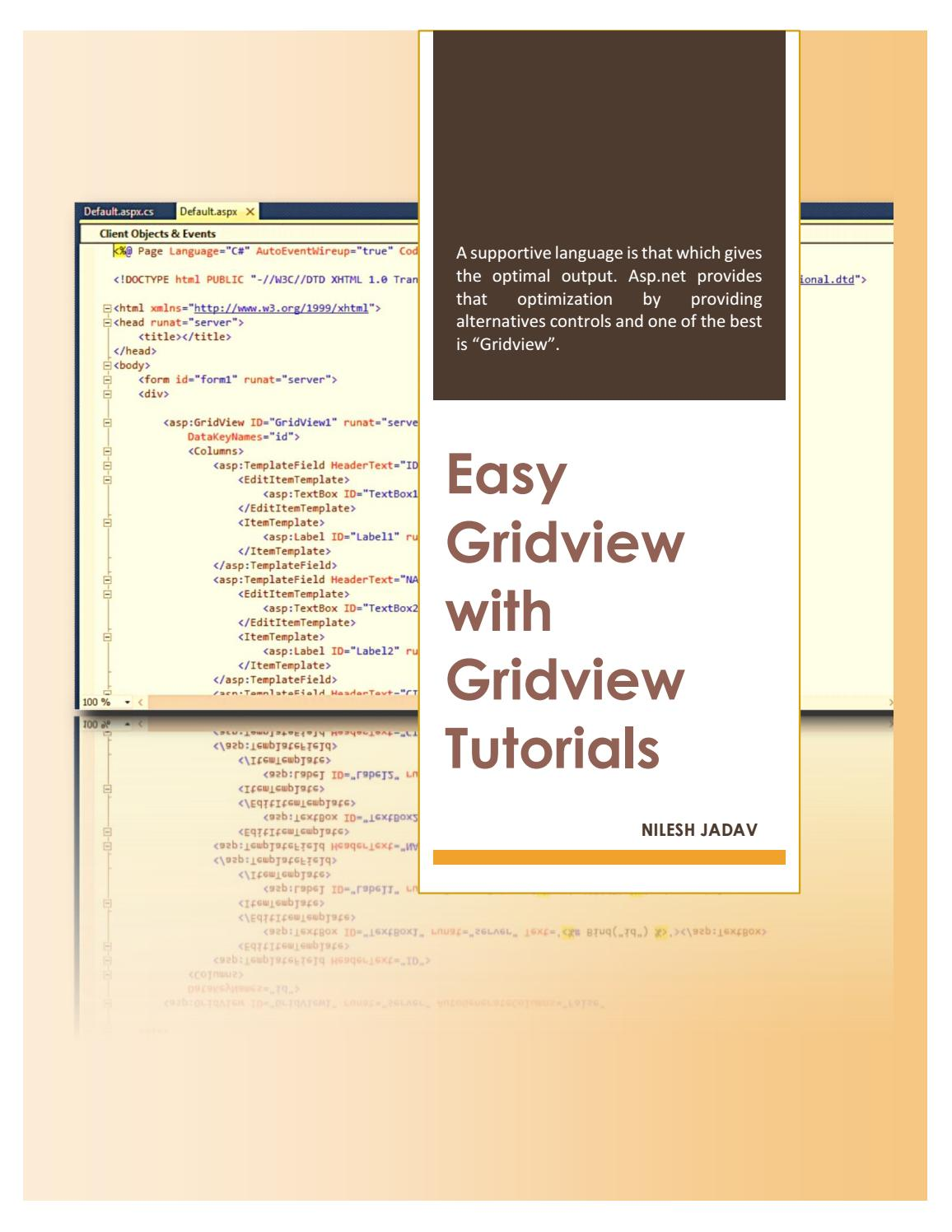 GridView tutorials by Nilesh Jadav - issuu