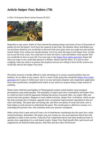 Article Sniper Fury Rubies (78) by devilishdisside9 - issuu