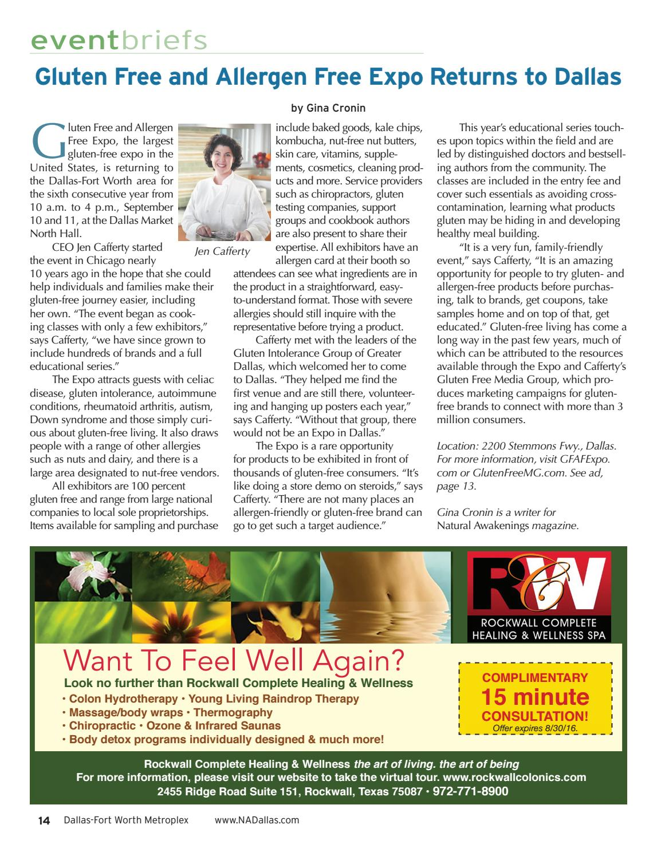 Natural Awakenings Dallas-Ft Worth Metroplex Aug 16 edition