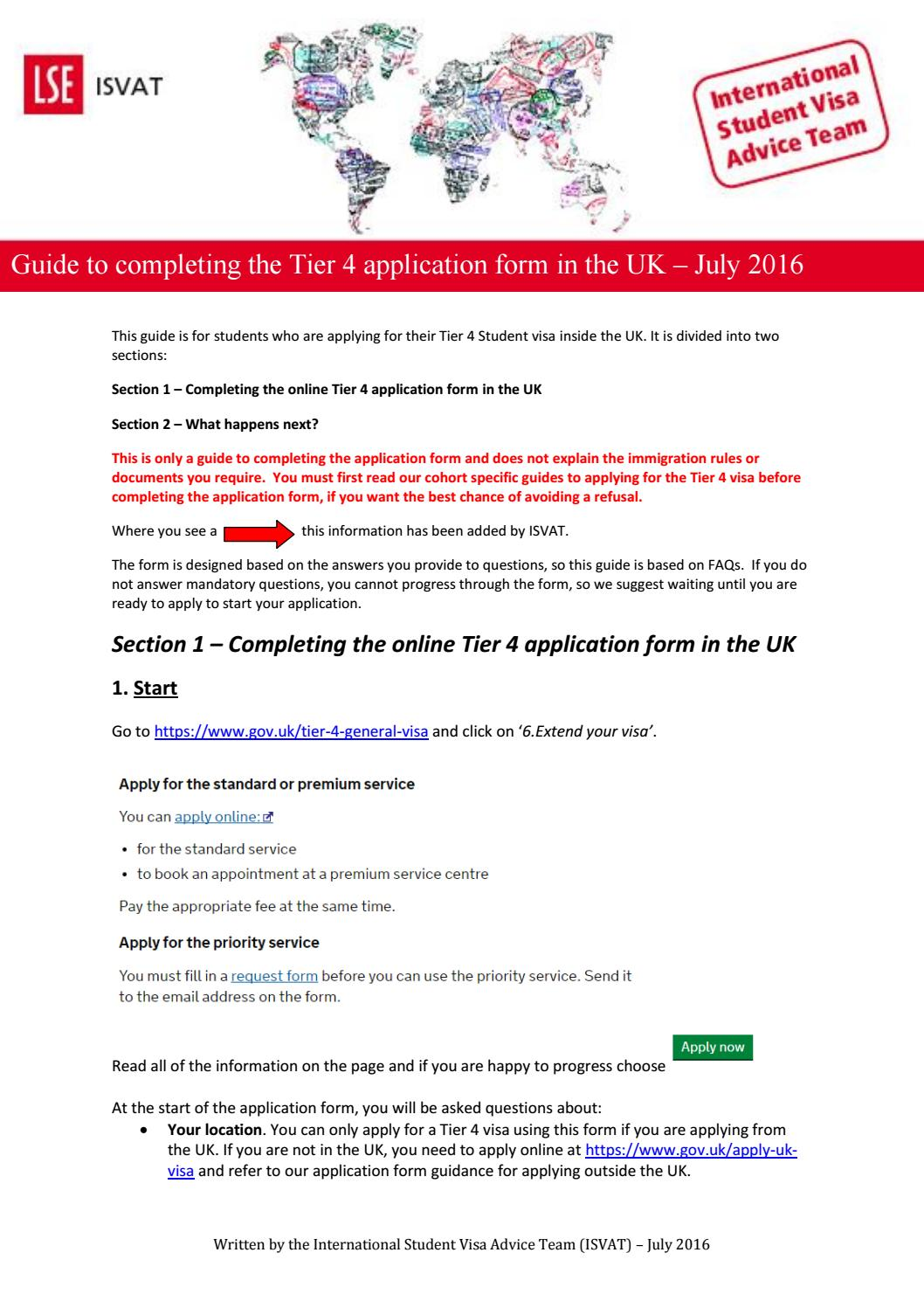 Isvat guide to completing the tier 4 application form in the uk by isvat guide to completing the tier 4 application form in the uk by lse international student visa advice team issuu falaconquin