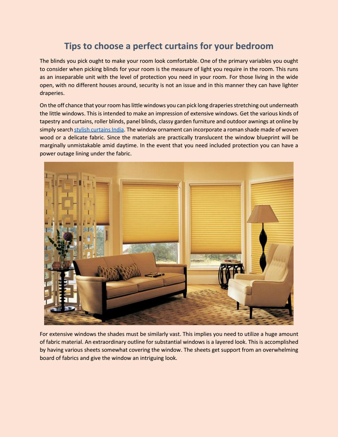 Tips To Choose A Perfect Curtains For Your Bedroom By Siddhi Stylish - Tips-to-choose-the-ideal-curtains
