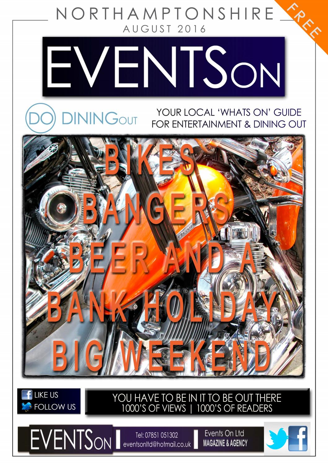 Events On Entertainment Amp Dining Out Northamptonshire