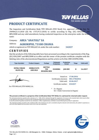 Abea certificates by GREEK EXPORT ALMANAC - issuu