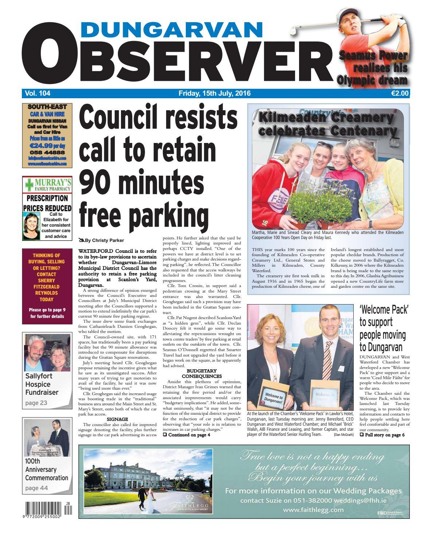 Dungarvan observer 15 7 2016 edition by Dungarvan Observer