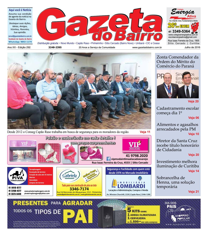 ca8165643 Gazeta do Bairro Julho 2016 by Gazeta do Bairro - issuu