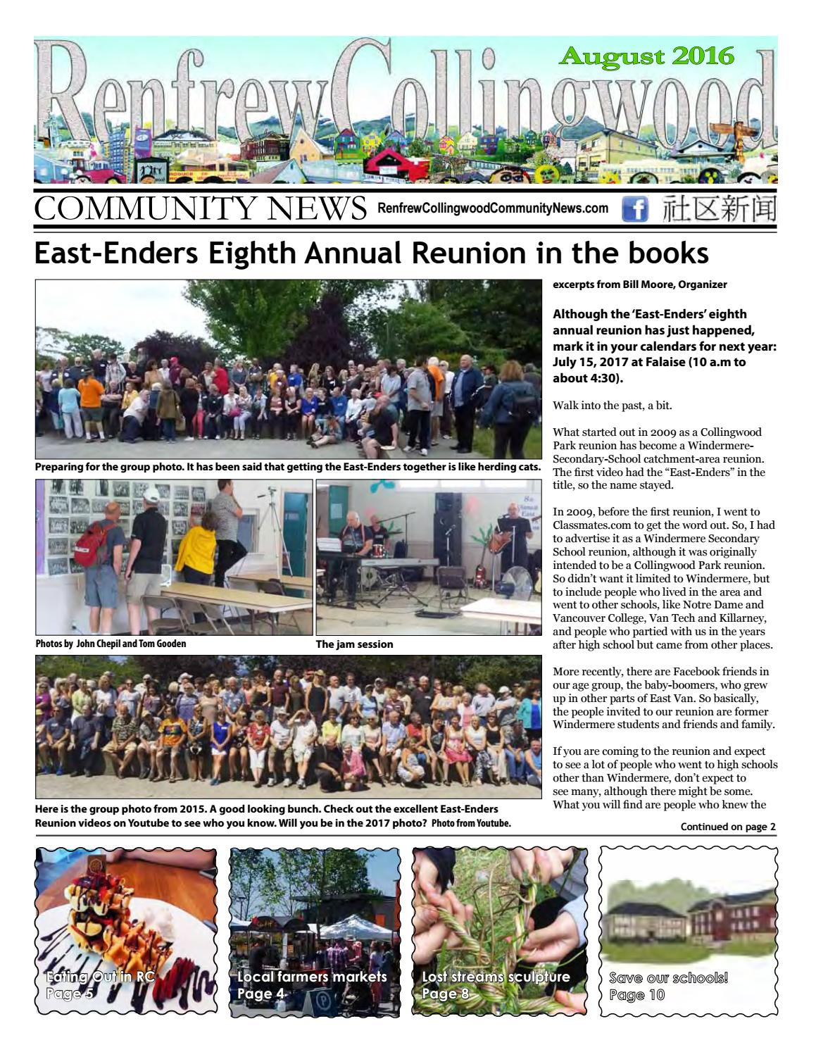 Renfrew-Collingwood Community News August 2016 by Renfrew-Collingwood Community News - issuu