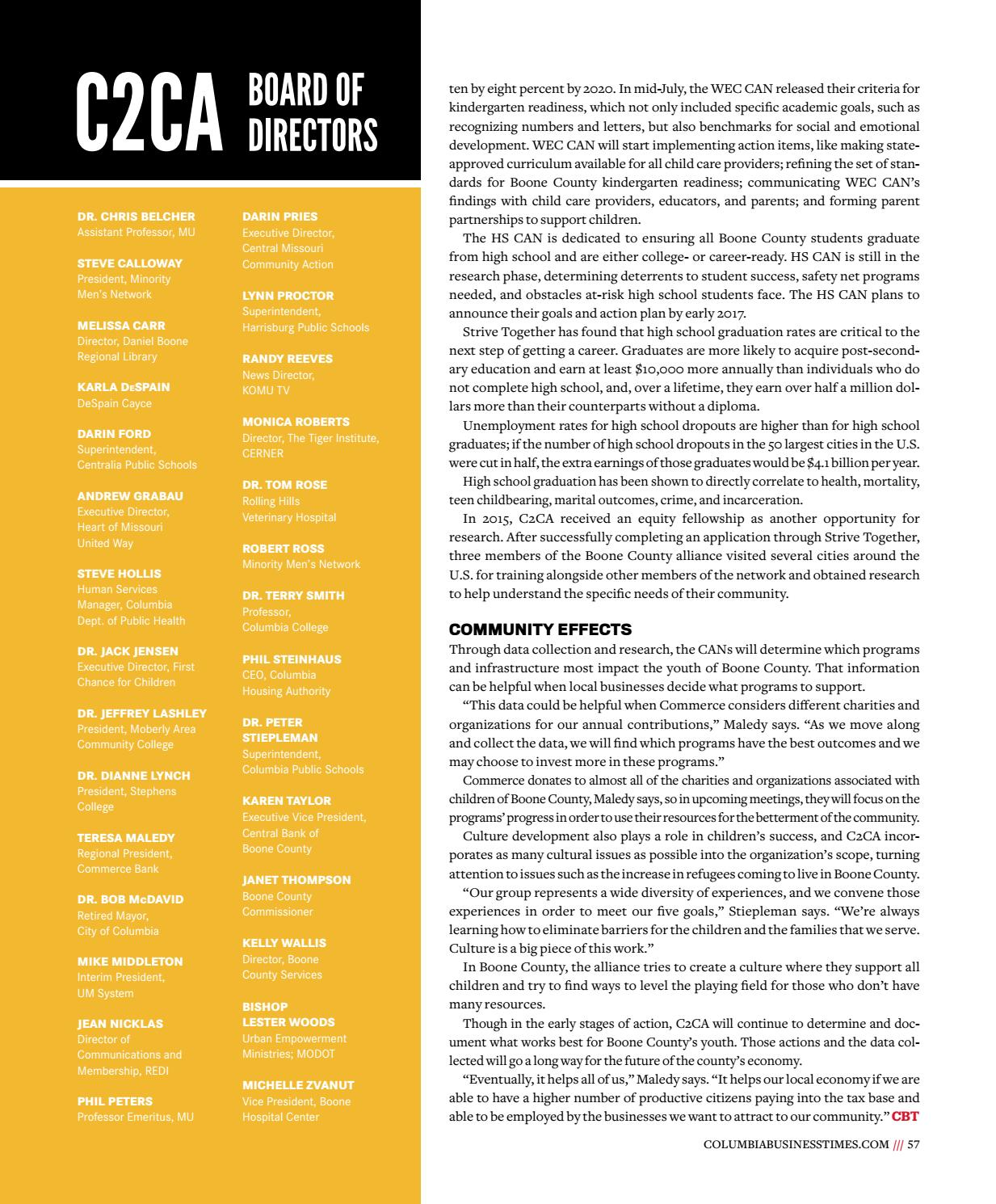Columbia Business Times - August 2016 by Business Times